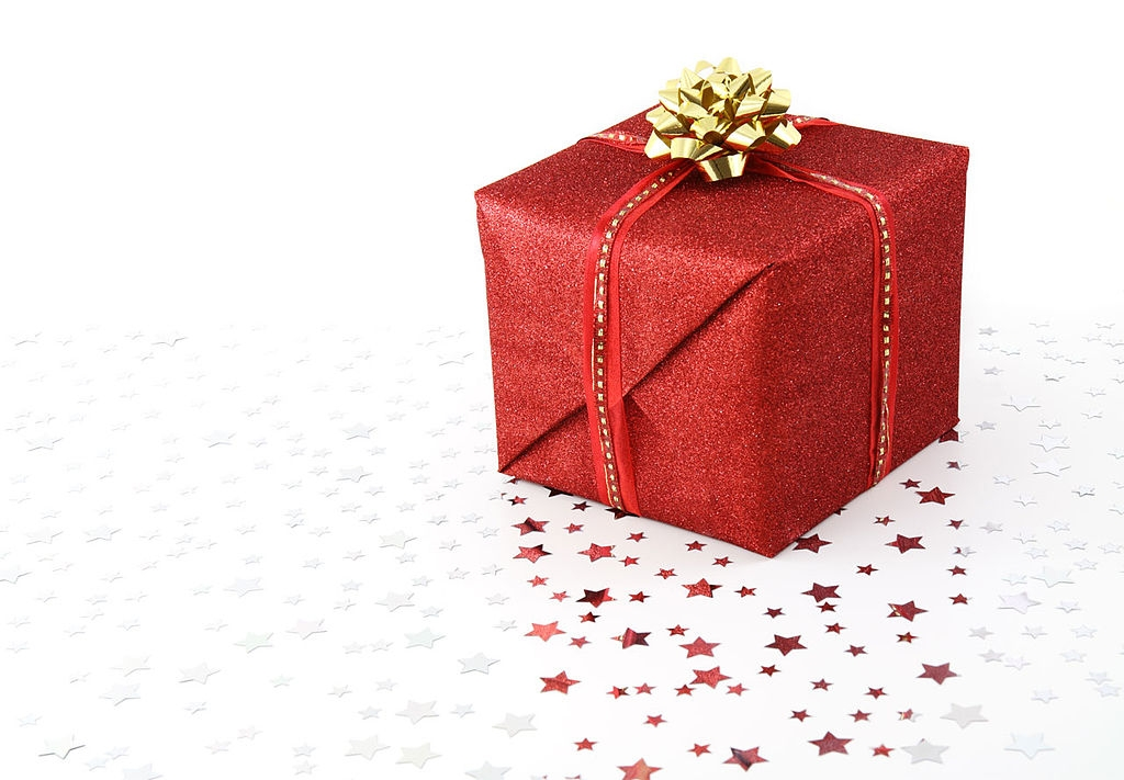 Filered Christmas Present On White Background Wikimedia Commons